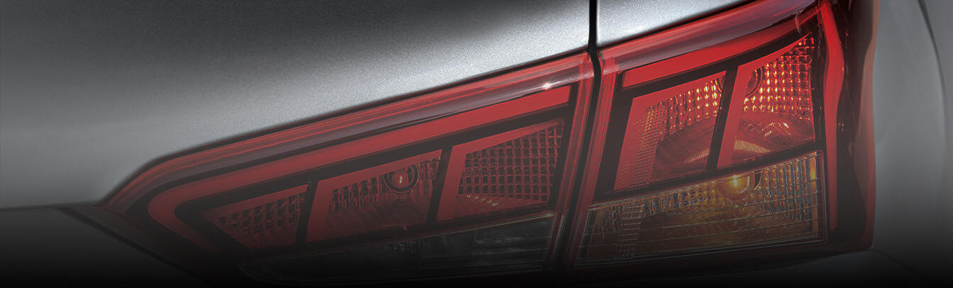 Closer view of rear lamp